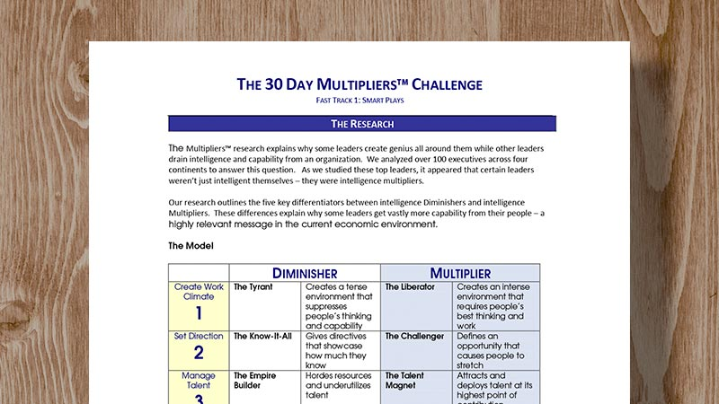 Multipliers - The Wiseman Group